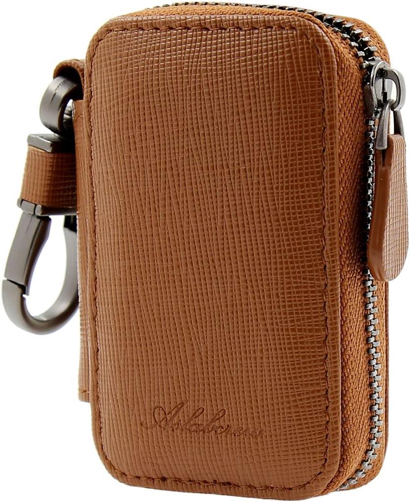 AslabCrew Car Key Case Genuine Holder Leather Hoo Keychain Tucson Mall Metal free shipping