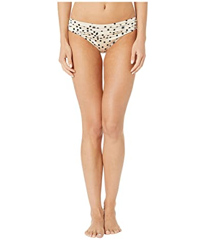 Stella McCartney Polka Dot Print Draped Classic Bikini Bottom (Cream/Black) Women