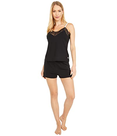 Calvin Klein Underwear One Lace Sleeveless Short Set (Black) Women