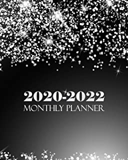 2020-2022 Monthly Planner: Silver Cover Monthly Calendar Schedule Organizer (36 Months) For The Next Three Years With Holidays and inspirational Quotes