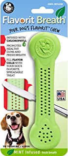 Pet Qwerks Flavorit Mint Flavor Nylon Chew for Fresh Breath - Fillable Dog Bones for Aggressive Chewers, Tough Power Chewe...