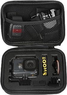 SHOOT EVA Estuche de Transporte para GoPro Hero 8/7/(2018)/6/5/4/3 GoPro Fusion/GoPro Session/SJCAM SJ4000 5000 6000 YI CAM APEMAN WiMiUS Rollei QUMOX y AccesoriosNegro16 x 12 x 6.5cm