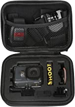 SHOOT Small Size Protective Carrying Storage Case for Osmo Action Camera for GoPro Hero 8/7/6/5/4/3+/3/Hero(2018)/Fusion Campark AKASO DBPOWER Crosstour FITFORT Accessories(6.3''x4.8''x2.8'')