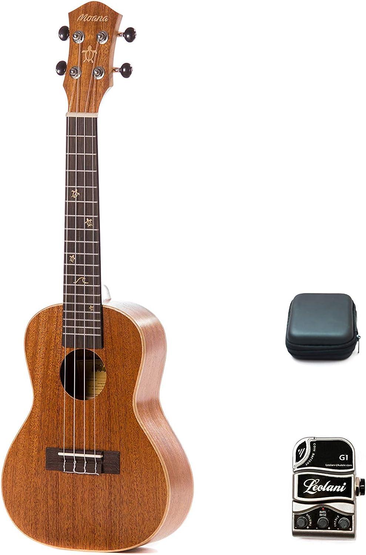 Moana Concert Super intense SALE Ukulele with on Transducer Pickup Stick 100% quality warranty!