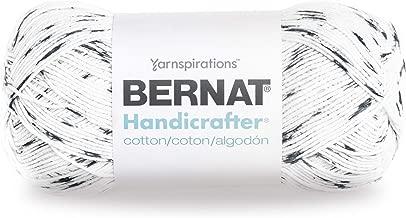 Bernat Handicrafter Cotton Yarn, Gauge 4 Medium Worsted, Salt/Pepper