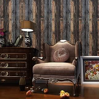 "Timeet Rustic Wood Wallpaper Decorative Wood 17.7""x16.4ft Self Adhesive Film Wood Peel and Stick Wallpaper Wood Grain Paper Wall Covering Removable Wallpaper Reclaimed Vinyl Shelf Drawer Liner"