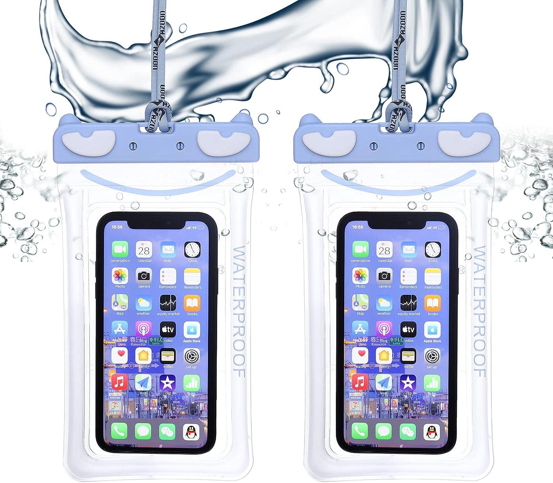 AZOOn Waterproof Mobile Phone case,Universal Waterproof Mobile Phone case(Blue)