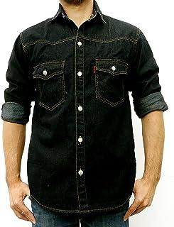 Taruron Denim Washed, Blue, Dark Jeans Casual Jacket for Men