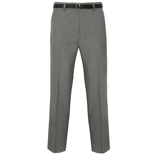 Whitive Mens Skinny Fit Wrinkle-Free Hidden Expandable-Waist Dress Pants