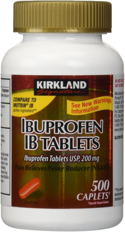 Kirkland Signature Ibuprofen Ib 200 Mg Tablets, 500 Count