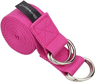 (Hotpink) - Yoga Exercise Mat Carrier Sling with 4 D-Rings Doubles As A