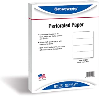 perforated bookmark paper