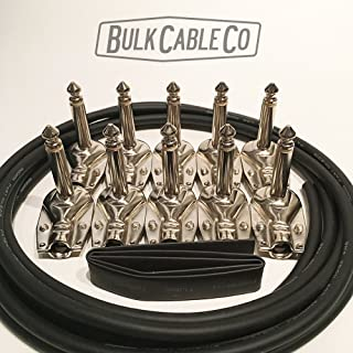 DIY Pedal Board Patch Cable Kit - 5 FX Cables - 8' Mogami 2319 Cable - 10 1/4