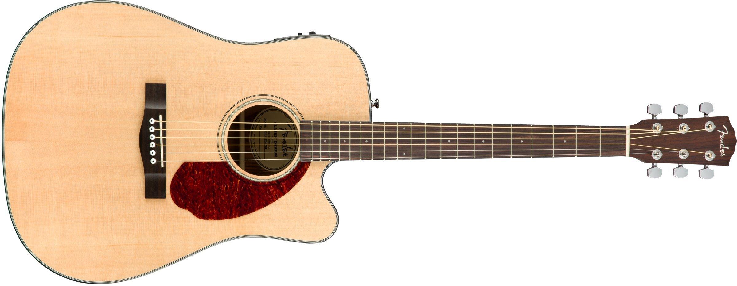 Fender CD-140SCE Natural + Estuche Guitarra Acústica: Amazon.es: Electrónica