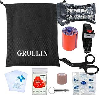 GRULLIN Tactical Accesorios de Primeros Auxilios Kit -Torniquete, Vendaje Israelí, Vendaje Autoadhesivo, Tijeras EMT