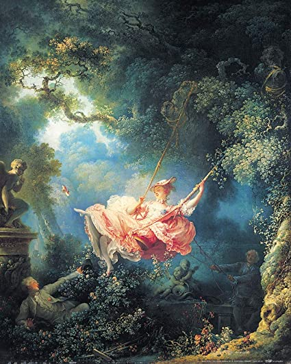 The Happy Accidents of the Swing Poster Canvas Print 26 Jean-Honoré Fragonard