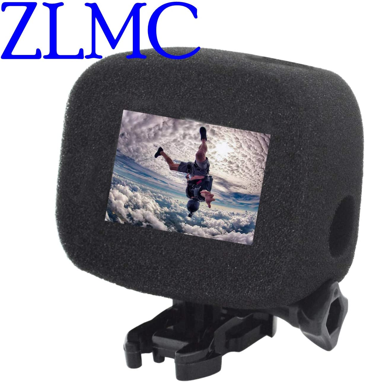 ZLMC Foam Windslayer windscreen Case for GoPro Hero 5 6 7 Black Camera Windshield Wind Housing Cover for Hero6 Hero5 Hero7 Audio Recording /& Protective Batteries Storage Boxes Holder