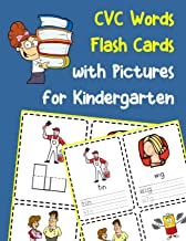 CVC Words Flash Cards with Pictures for Kindergarten: Vowels and consonants missing word activity flashcards