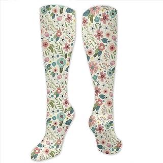 MISS-YAN, Calcetines para hombre y mujer, diseño de flores, divertidos, divertidos, divertidos, divertidos, para carreras, deportes, trel, deporte, calcetines de calf