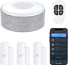 سیستم هشدار درب WiFi ، سیستم امنیت خانه هوشمند بی سیم DIY ، با هشدار تلفن APP ، کیت 5 قطعه (آژیر هشدار ، سنسور پنجره در ، ریموت) ، کار با الکسا ، برای خانه ، آپارتمان ، توسط tolviviov