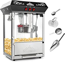 Olde Midway POP-P800-BLK Popcorn Machine, 26.3 x 19.9 x 17.3 inches, Black