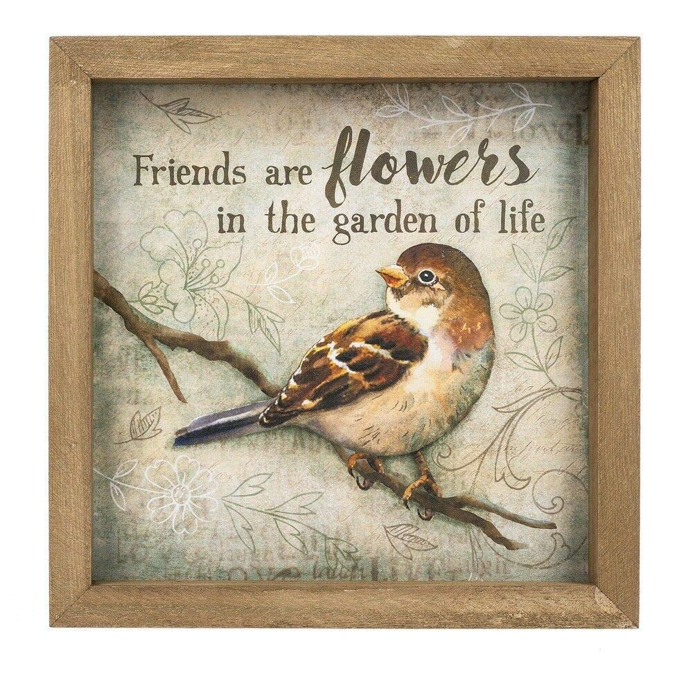 Max 72% OFF Ganz New sales Big Thoughts from Little Plaques Box Birds Flowers