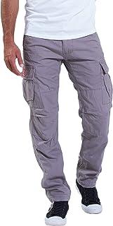 Molecule 62005 - Pantalones cargo (corte regular, tejido lavado a la piedra)