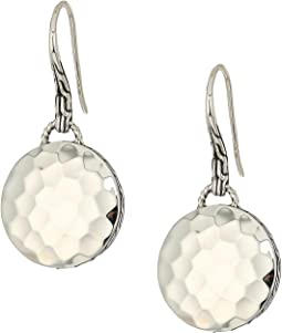 Dot Drop Hammered Earrings