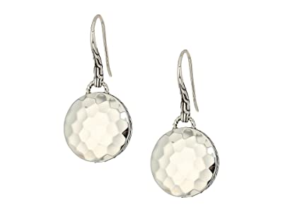 John Hardy Dot Drop Hammered Earrings (Silver) Earring