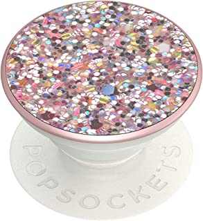 PopSockets: PopGrip with Swappable Top for Phones and Tablets - Sparkle Rosebud Pink