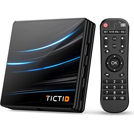 TICTID Android TV Box Android 10.0【4G+64G】 RK3318 Boitier Android TV D1 Pro Quad-Core 64bit Cortex-A53 / WiFi 2.4G / 5.0G / Bluetooth 4.0 / 4K / HD / USB 3.0 / H.265 Android TV Box