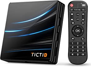 TICTID Android TV Box Android 10.0【4G+64G】 RK3318 Boitier Android TV D1 Pro Quad-Core 64bit Cortex-A53 / WiFi 2.4G / 5.0G...