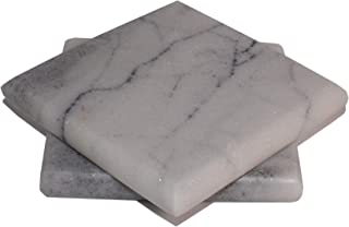 Hashcart Handmade Marble Coasters for Dining Table/Centre table (Set of 2)
