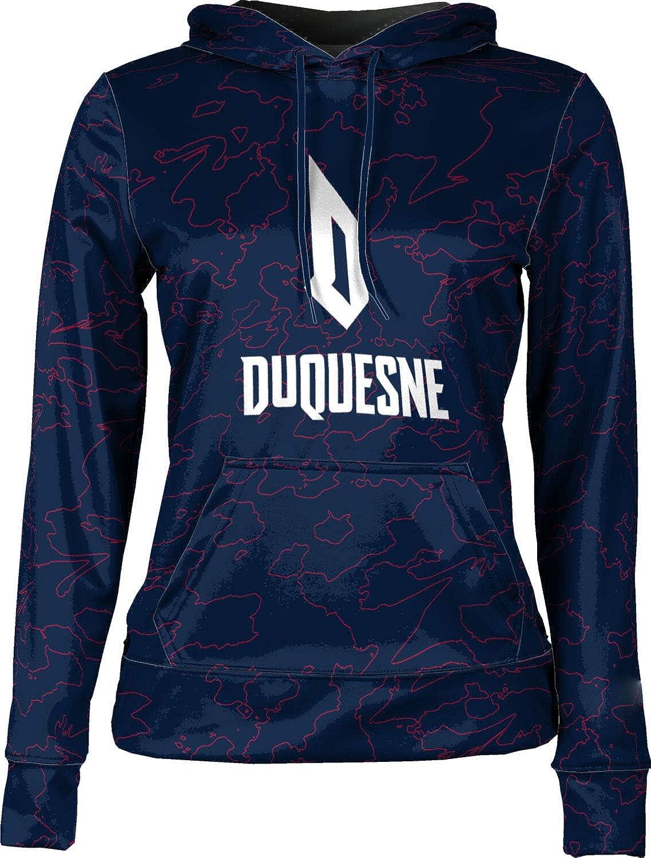 ProSphere Duquesne University Girls' Pullover Hoodie, School Spirit Sweatshirt (Topography)