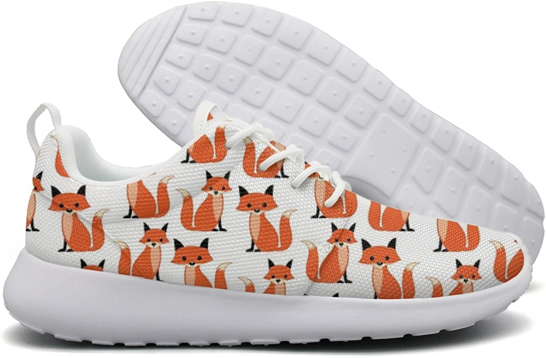 Catoon Fox Pattern Women Flex Mesh Womens Casual shoes