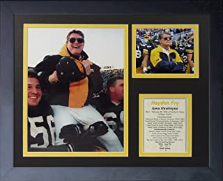 "Hayden Fry 11"" x 14"" Framed Photo Collage by Legends Never Die, Inc."