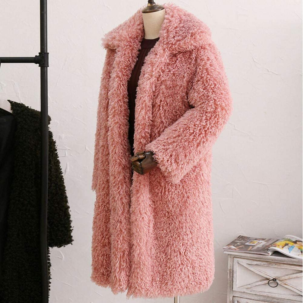 KANGMOON Winterjacke Damen Teddy Mantel Lamm Pullover Pullover Jacke jacken Pink