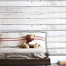 "White Wood Contact Paper Wood Wallpaper Peel and Stick Wallpaper Self Adhesive Wallpaper Removable Wallpaper Stick and Peel Wallpaper Wood Look Wallpaper Shelf Drawer Liner Vinyl Film 78.7""x17.7"""
