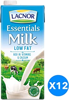 Lacnor Milk Low Fat -  1 Litre (Pack of 12 )