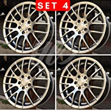 NEW 19 Inch x 8.5/9.5 M3 CSL STYLE Staggered Wheels Rims 5 lug Hyper Silver compatible with BMW 3 SERIES STAGGERED E90/2/3 SET Set of 4