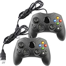 Replacement Controller for Microsoft Xbox Original S-Type Black (2-Pack)