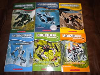 Set of 6 Bionicle Adventures ~ Trial by Fire, The Darkness Below, Voyage of Fear, Maze of Shadows, Web of the Visorak, Challenge of the Hordika (2,3,5,6,7,8)