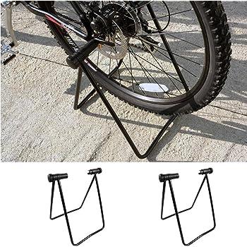 Marco de estacionamiento para bicicleta, soporte de aparcamiento, soporte plegable para rueda de bicicleta, para bicicleta de montaña y de carretera, interior y exterior, negro: Amazon.es: Bricolaje y herramientas