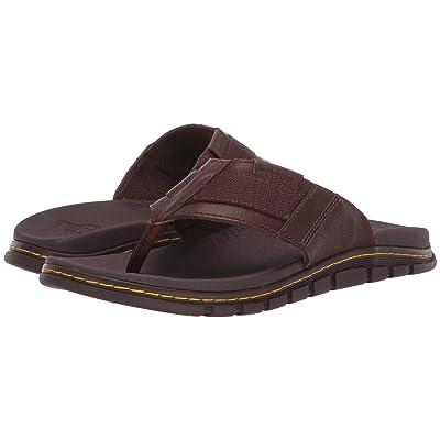 Dr. Martens Athens Thong (Tan/Dark Brown Carpathian/Webbing) Sandals