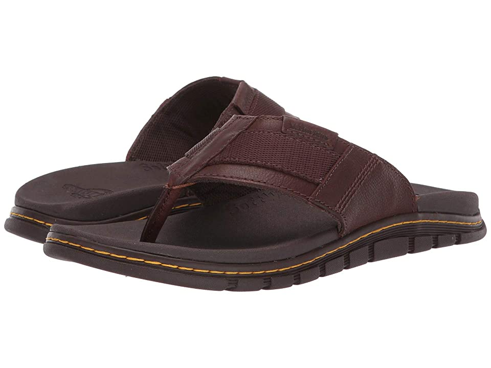 Dr. Martens Athens Thong (Tan/Dark Brown Carpathian/Webbing) Sandals