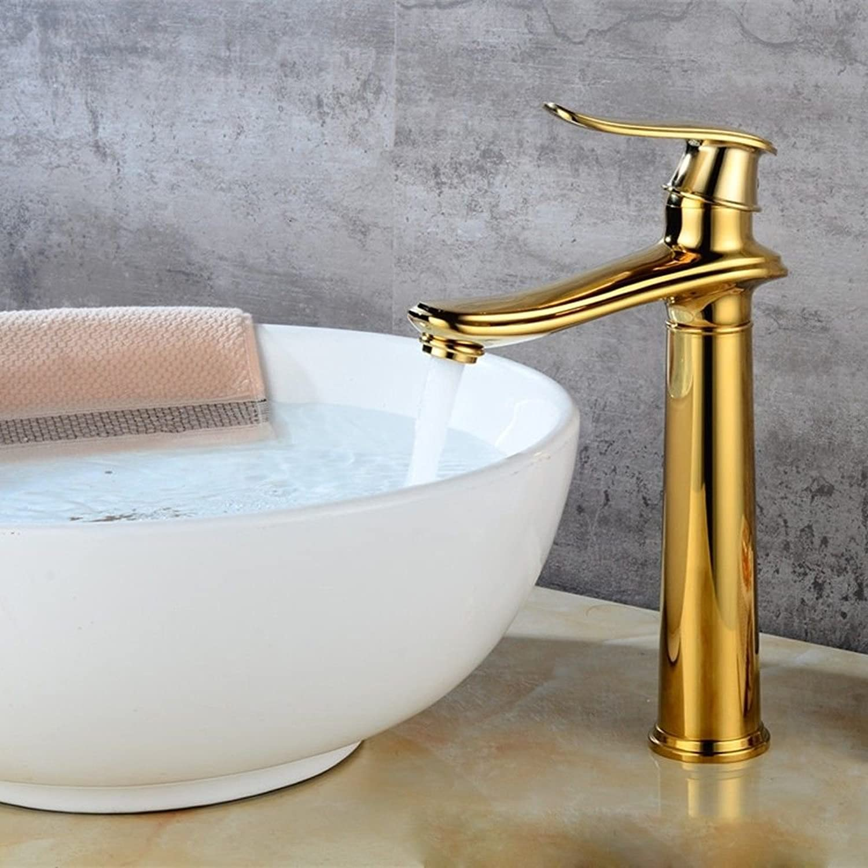 Gyps Faucet Waschtisch-Einhebelmischer Waschtischarmatur BadarmaturBad Armatur Antik Kupfer-Gold Gebürstet Badehaus - Baustoffe Hoch,Mischbatterie Waschbecken