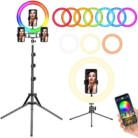 Andoer Led Ringlicht Lichtring Mit 16 Rgb Farben Kamera