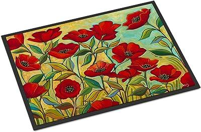 Caroline's Treasures Poppy Garden Flowers Door Mat doormats, Multicolor