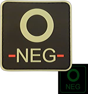 featured product LEGEEON Glow Dark ONEG O- Blood Type Tactical Combat PVC Rubber 3D GITD Hook&Loop Patch