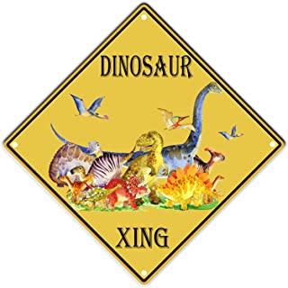 PXIYOU Dinosaur World Xing Crossing Vintage Tin Sign for Living Room Coffee Bar Signs Home Decor Gifts Decoration Wall Out...